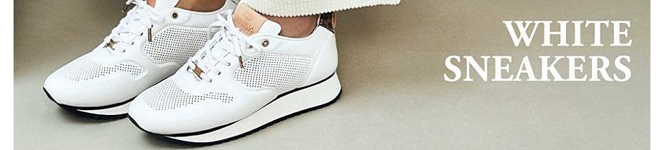 White sleek sneakers