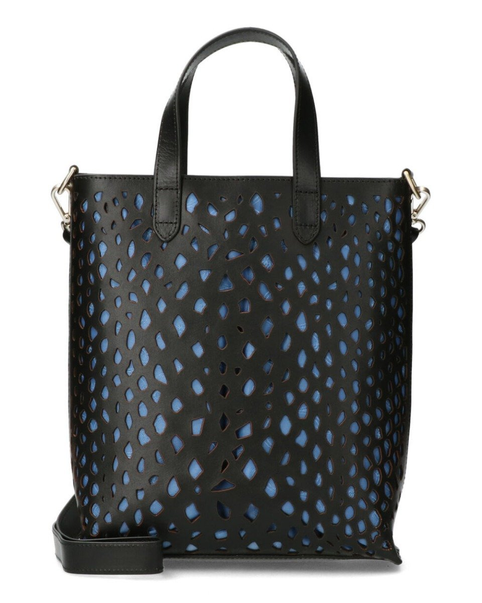 Python Perforated Nat Dyed Smooth Lt Black