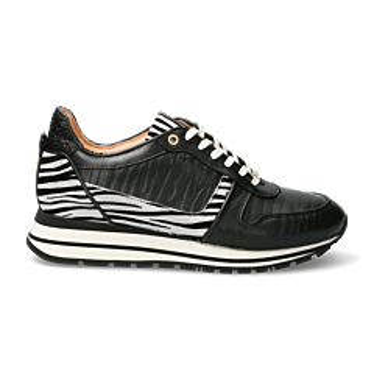 Zwarte-zebraprint-sneaker