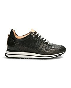 SNEAKER-SHINY-PRINTED-LEATHER-Black