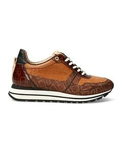 SNEAKER-SHINY-PRINTED-LEATHER-Cognac
