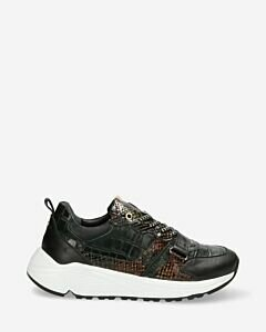 Sneaker-printed-leather-dark-green