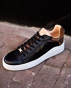 SNEAKER-SMOOTH-LEATHER-WITH-CROCO-Black