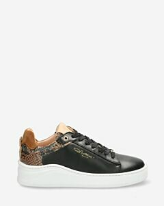 Sneaker-smooth-leather-croco-printed-black