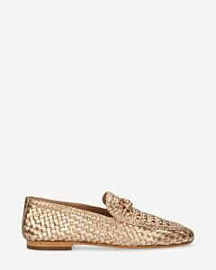 Loafer-woven-leather-Copper-Foil