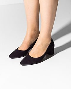 Pump-suede-black