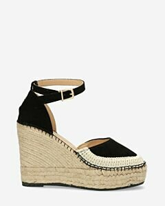 Black-suede-espadrille-wedges-with-ankle-strap