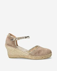 Taupe-suede-espadrille-wedges-with-snake-print-
