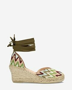 Green-espadrille-wedges-with-ankle-strap