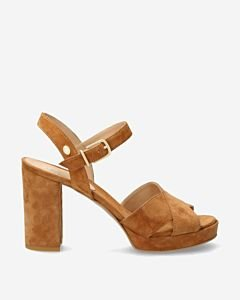 Brown-suede-high-heeled-sandal