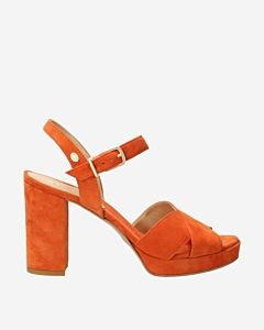Orange-suede-high-heeled-sandal