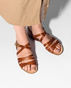 Sandal-smooth-leather-Light-Brown