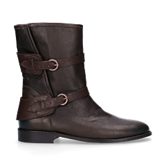 Ankle-boot-waxed-smooth-leather-Dark-Brown