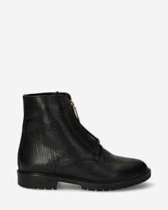 Black-ankle-boot-with-zipper-on-front