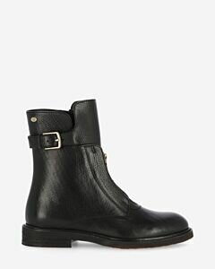 Ankle boot soft smooth leather black