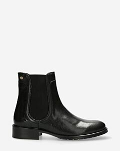 Chelsea boot shiny printed leather black