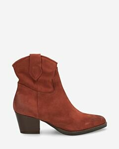Western-ankle-boot-suede-brick-brown