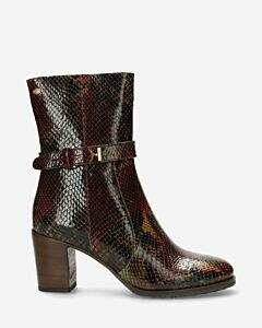 Heeled-ankle-boot-printed-leather-brown