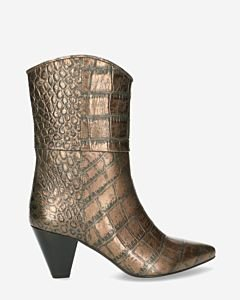 Heeled-ankle-boot-metallic-printed-leather-antracite