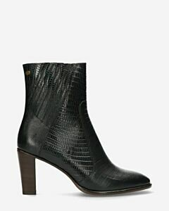 Ankle-boot-printed-leather-dark-green