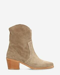 Western boot suede taupe