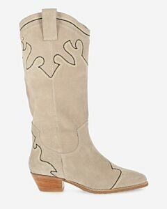 Western-boot-suede-light-grey