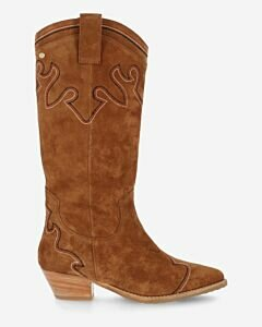 Western-boot-suede-brown