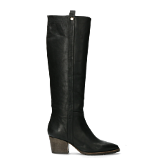 Western-boot-smooth-leather-black