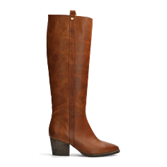Western-boot-smooth-leather-cognac