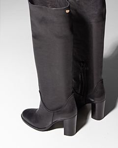 Heeled-tall-shaft-boot-Black
