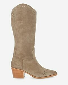 Western-boot-suede-taupe