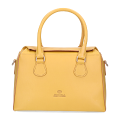 Handbag-natural-dyed-smooth-leather-yellow
