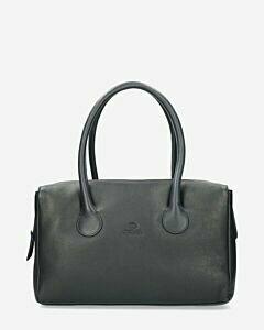 Handbags smooth leather dark blue