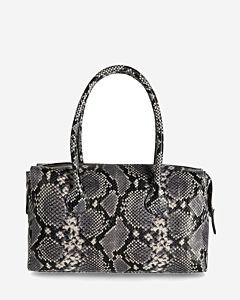 Handbag-snake-printed-leather-black