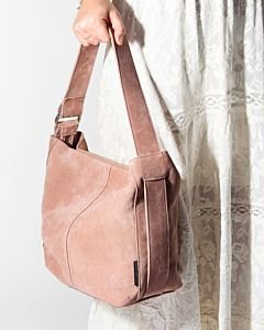 Shoulderbag-suede-Rose