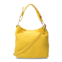 Shoulderbag-cutted-leather-Yellow