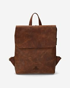 Backpack-waxed-smooth-leather-cognac-