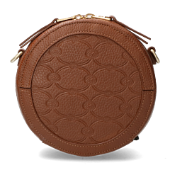 Crossbody-grain-leather-with-logo-print-cognac