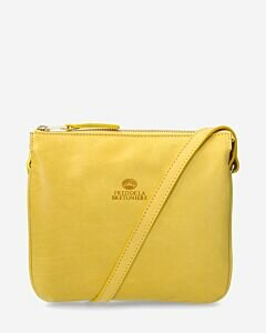 Crossbody-smooth-leather-yellow