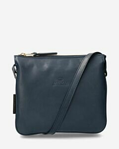 Cross-body-tas-glad-leer-donkerblauw-