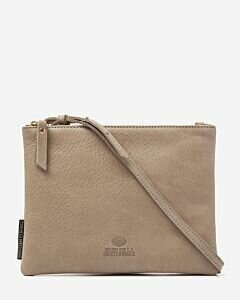 Eveningbag grain leather olive