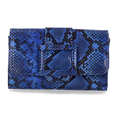 Clutch-printed-leather-cobalt-blue