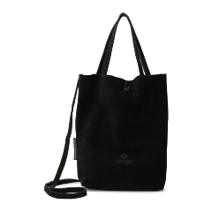 Shoppingbag-from-suede-black