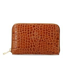 Wallet-croco-patent-leather-cognac
