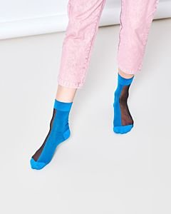 Transparant-Filipa-Nylon-ankle-socks-Cobalt-Blue