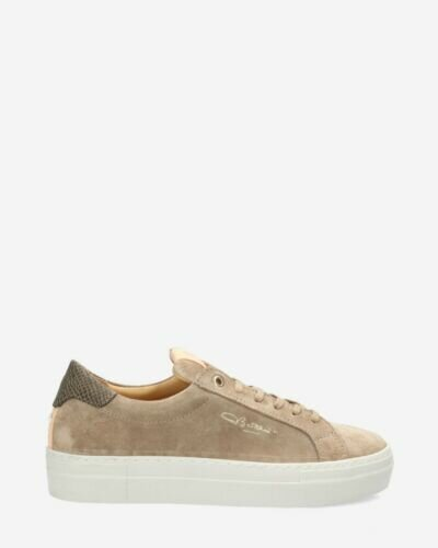 Sneaker suède taupe