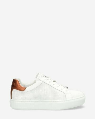 Sneaker perforated smooth leather white