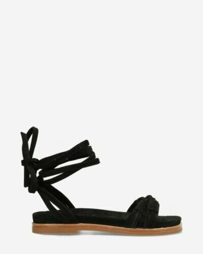 Sandals suede with black ankle straps
