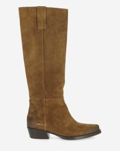 Boot waxed suede warm brown