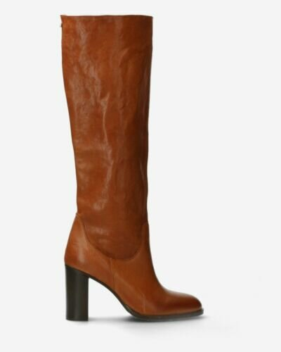 Boot soft smooth leather cognac